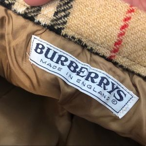 Burberry Skirts - Burberry Vintage | Wool Plaid Knee Length Skirt